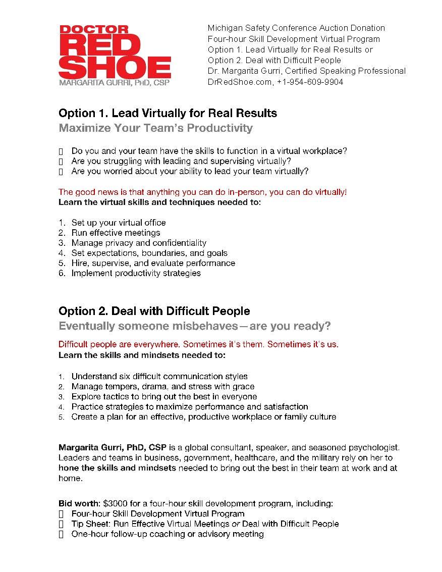 Four-Hour Skill Development Virtual Program