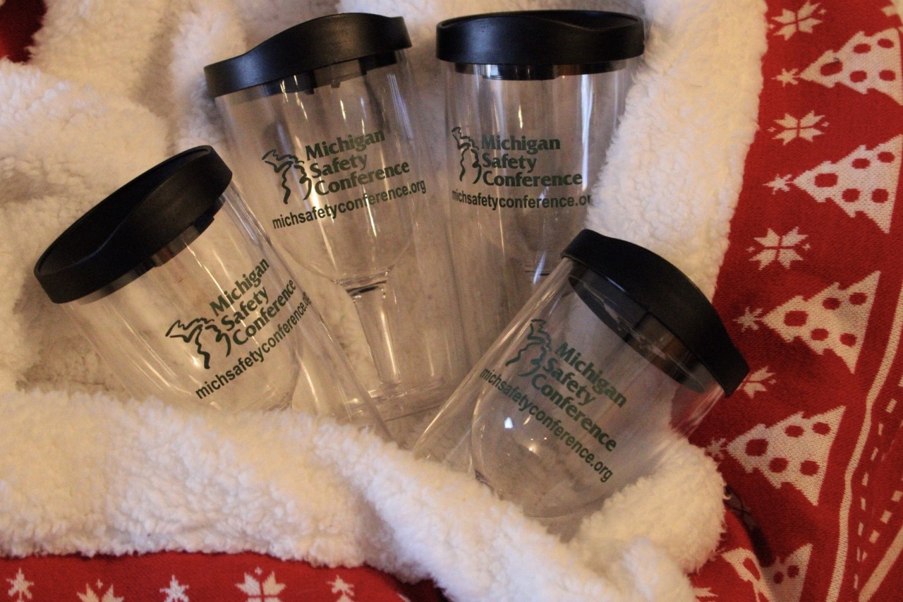 Set of 4 - Michigan Safety Conference Portable Beverage Cups